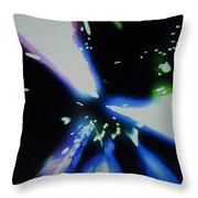 Blue Laser Throw Pillow