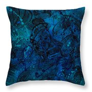 Blue Lava Flow Throw Pillow