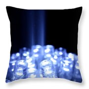 Blue Led Lights With Light Beam Throw Pillow