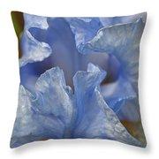 Blue Lilac Iris Throw Pillow