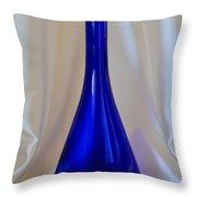 Blue Long-necked Bottle Throw Pillow