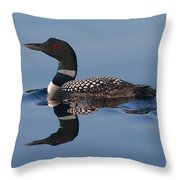 Blue Loon Throw Pillow