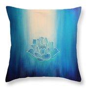 Blue Lotus Throw Pillow