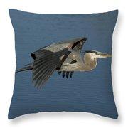Blue Lou Throw Pillow