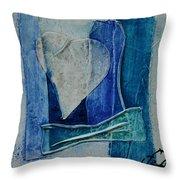 Blue Love 11 Throw Pillow