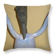 Blue Man - I Give Up Throw Pillow