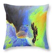 Blue Mars Throw Pillow