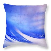 Blue Marvel. Lighten Your Day With Music Throw Pillow