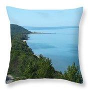 Blue Meets Blue Throw Pillow