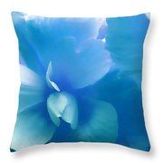 Blue Melody Begonia Floral Throw Pillow