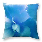 Blue Melody Begonia Floral Throw Pillow by Jennie Marie Schell
