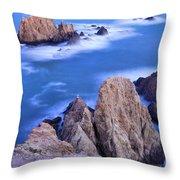 Blue Mermaids Throw Pillow