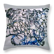 Blue Mind Throw Pillow