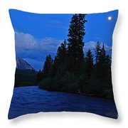 Blue Missing You Throw Pillow