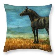 Blue Moon Throw Pillow by Linda L Martin