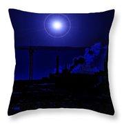 Blue Moon Over Baltimore Throw Pillow