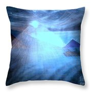 Blue Moon Sailing Throw Pillow