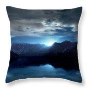 Blue Morning Throw Pillow