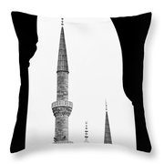 Blue Mosque 01 Throw Pillow