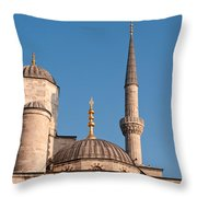 Blue Mosque 02 Throw Pillow
