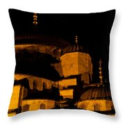 Blue Mosque At Night 02 Throw Pillow