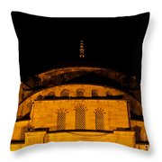 Blue Mosque At Night 03 Throw Pillow