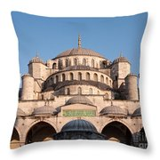 Blue Mosque Domes 01 Throw Pillow