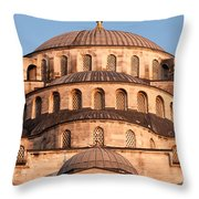 Blue Mosque Domes 02 Throw Pillow
