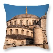 Blue Mosque Domes 05 Throw Pillow