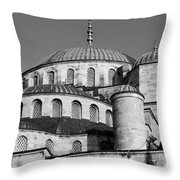 Blue Mosque Domes 06 Throw Pillow
