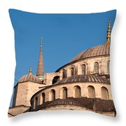 Blue Mosque Domes 07 Throw Pillow
