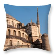 Blue Mosque Domes 08 Throw Pillow