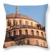 Blue Mosque Domes 09 Throw Pillow