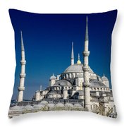 Blue Mosque In Istanbul Throw Pillow