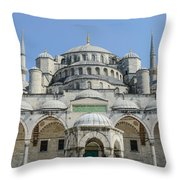 Blue Mosque In Istanbul Turkey Throw Pillow