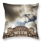 Blue Mosque Istanbul Throw Pillow