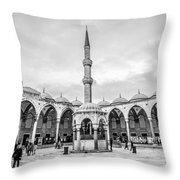 Blue Mosque Minaret Throw Pillow