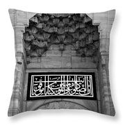 Blue Mosque Portal Throw Pillow