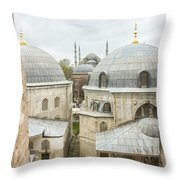 Blue Mosque View From Hagia Sophia Throw Pillow