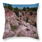 Blue Mounds Quarry Throw Pillow by James Peterson