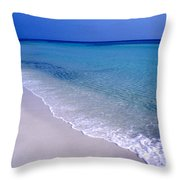 Blue Mountain Beach Throw Pillow
