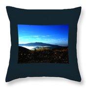 Blue Mountain Landscape Umbria Italy Throw Pillow