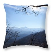 Blue Mountain Sky Throw Pillow