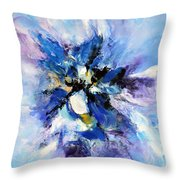 Blue Mystery Throw Pillow by Isabelle Vobmann