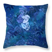 Blue - Natural Abstract Series Throw Pillow