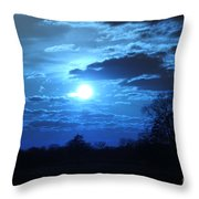 Blue Night Light Throw Pillow
