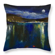 Blue Nocturne Throw Pillow by Michael Creese