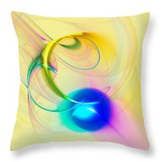 Blue Note Throw Pillow by Anastasiya Malakhova