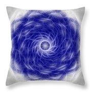Blue Nova Throw Pillow