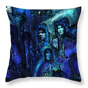 Blue O'clock Cloisters Throw Pillow